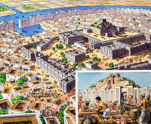 Precolombian town of Tenochtitlan
