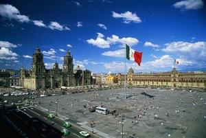 Zocalo, place of the Constitution